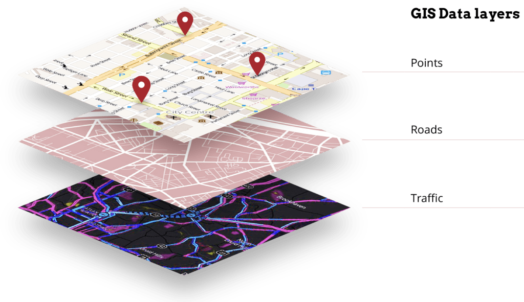 GIS infrastructure surveying, mapping and maintenance is possible with technological devices and cameras equipped with the proper sensors.