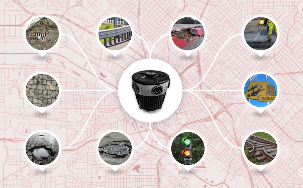 The Mosaic 51 is a 360-degree camera, ideal for road infrastructure and street maintenance projects.
