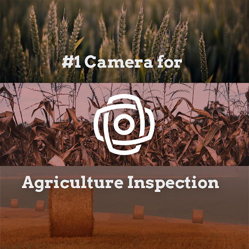The number one solution for agriculture inspection and crop inspection is a 360-degree camera called the Mosaic 51.