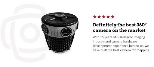 Definitely the best 360-degree camera on the market -  the Mosaic 51.